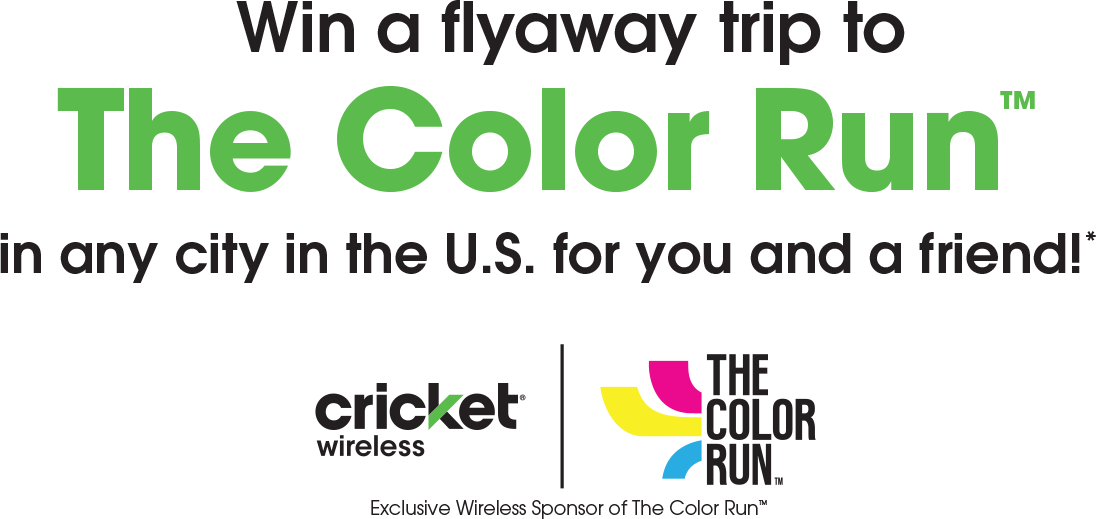 Win a flyaway trip to The Color Run in any city in the U.S. for you and a friend!*