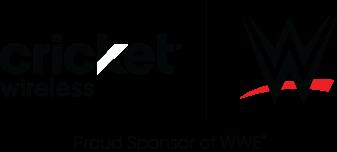 Cricket Wireless and WWE logos - Proud Sponsor of WWE